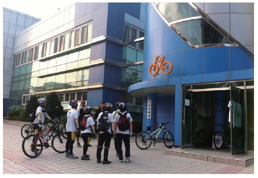 광주본부와 자전거 사람들 이미지
